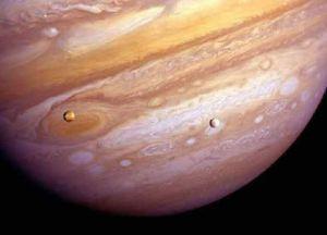 Jupiter, Io, Europa