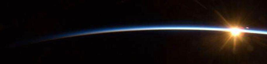 sun over edge of Earth