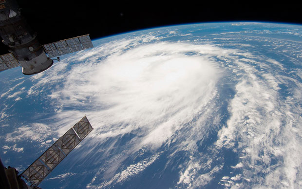 Katia 2011, a category 1 Hurricane photographed from the International Space Station. NASA.